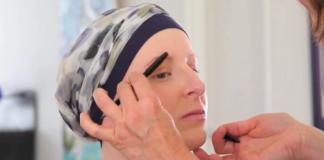 Bien dessiner ses sourcils - Maquillage sourcils - Rose Magazine @Chloé, en traitement de chimiothérapie joue les modèles pour Rose.