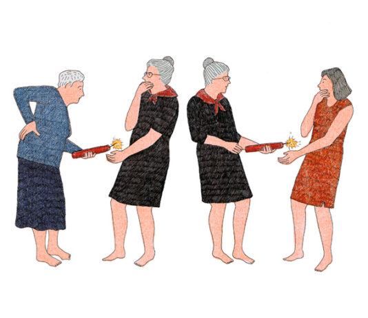 """cancer en héritage @Illustration © Anne Tour, auteure de """"Je ferai comme toi, je ne mourrai pas"""" Robert Laffont."""