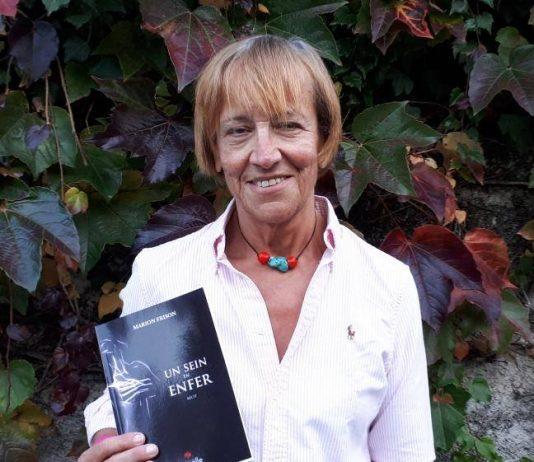 """Marion Frison et son livre """"Un sein en enfer"""". DR-rosemagazine-roseupassociation"""