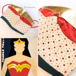 Masque Wonderwoman réalisée par Alexandra