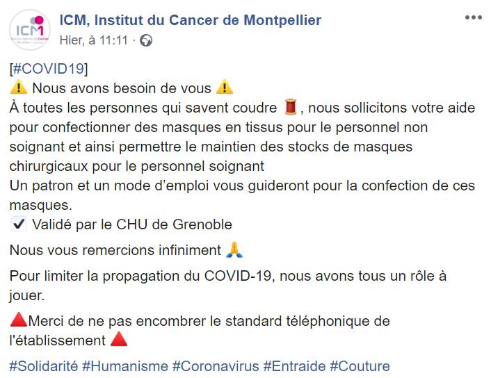 Appel-solidarité-ICM pour confection de masque coronavirus-rosemagazine-roseupassociation