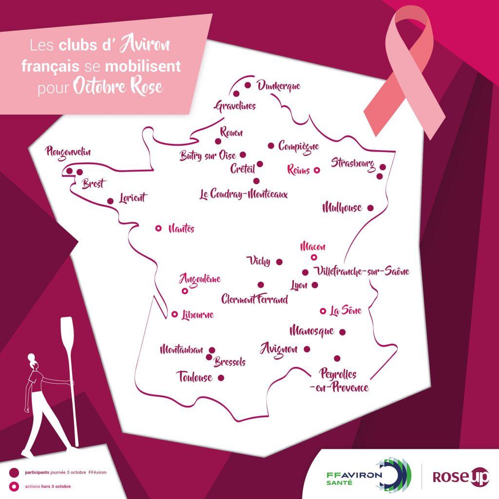 Les clubs d'aviron français se mobilisent pour Octobre Rose : un grand MERCI !