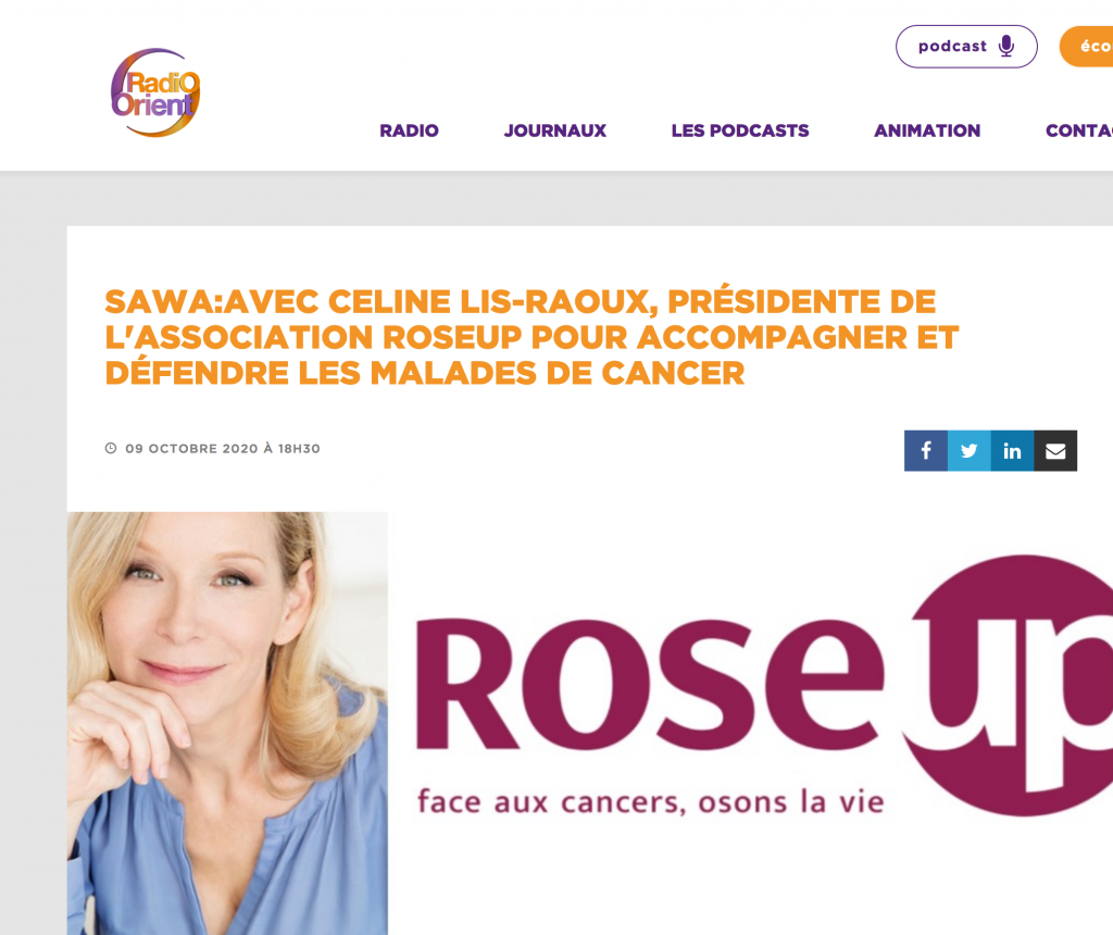 Celine-lis-raoux-radio-lorient-campagne-octobre-rose-2020-rose-up-association-rosemagazine
