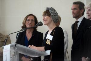 Julie Meunier, lauréate du prix Rose de l'entrepreneuse 2018 - roseup association