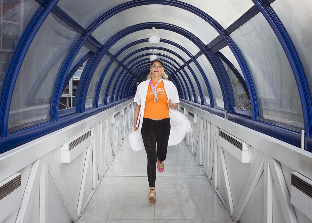 Ludivine, assistante médicale, fais de la course à pieds - roseupassociation - face aux cancers osons la vie