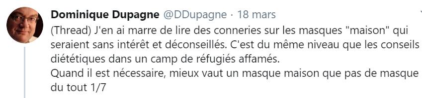Le Dr. Dominique Dupagne répond à la polémique sur la protection des masques en tissu-rosemagazine-roseupassociation