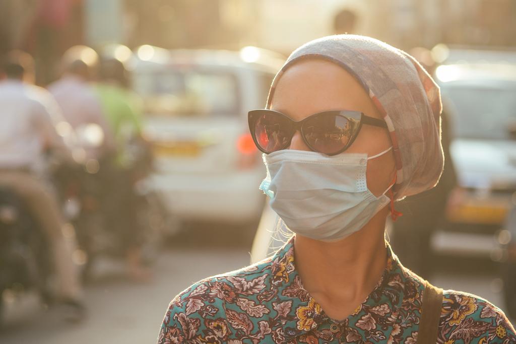 masque rose anti virus