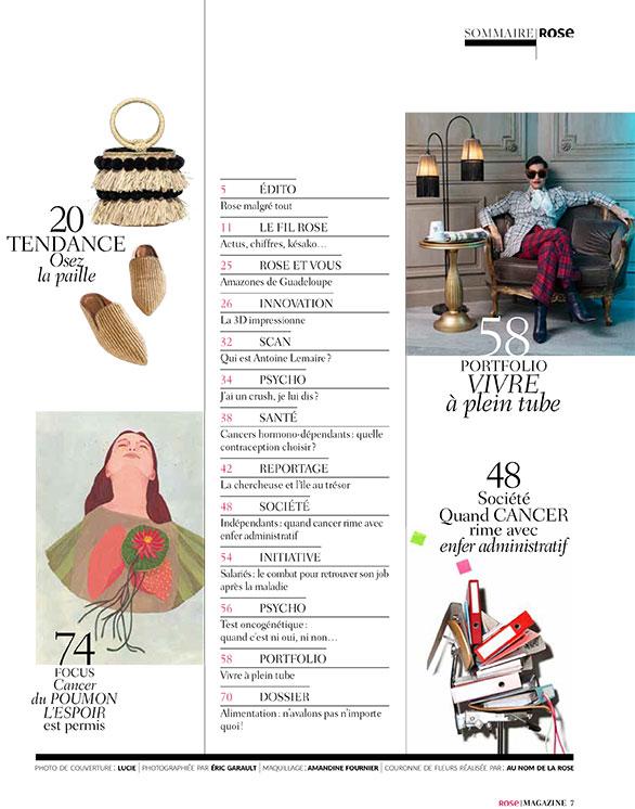 sommaire rose magazine 18
