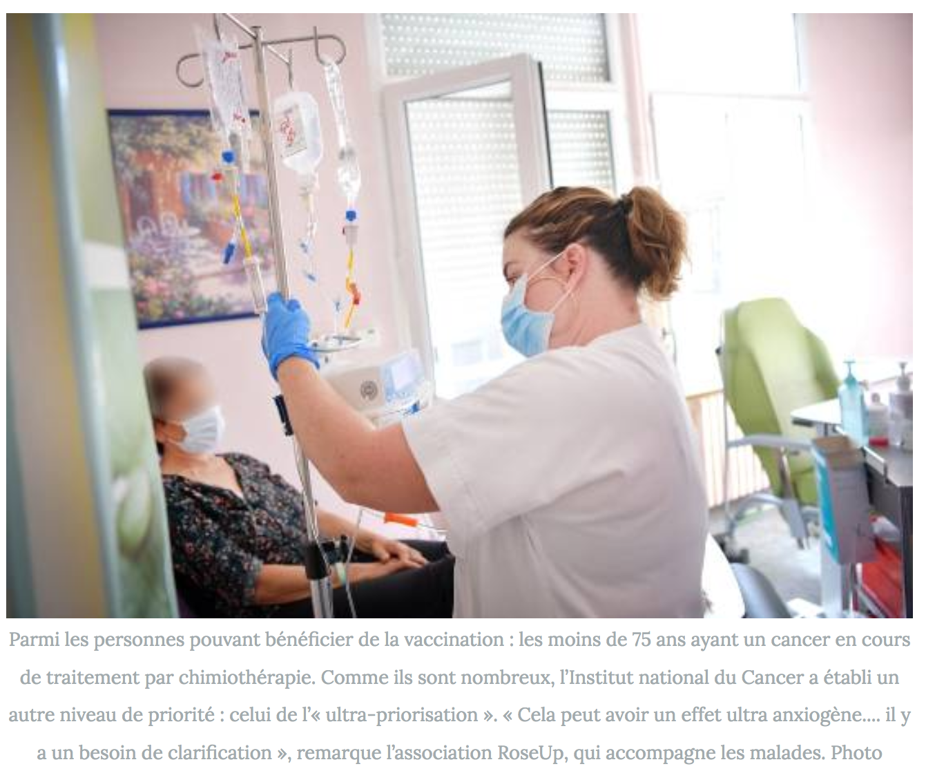 article-lamontagne.fr:journee-mondiale-contre-le-cancer-l-insoutenable-attente-des-malades-en-quete-de-vaccins-contre-le-covid-19-rose-up-association-isabelle-huet