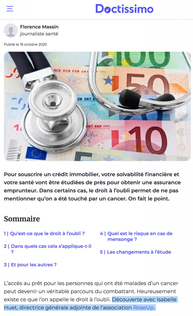 doctissimo-droit-a-l-oubli-cancer-isabelle-huet-rose-up-association